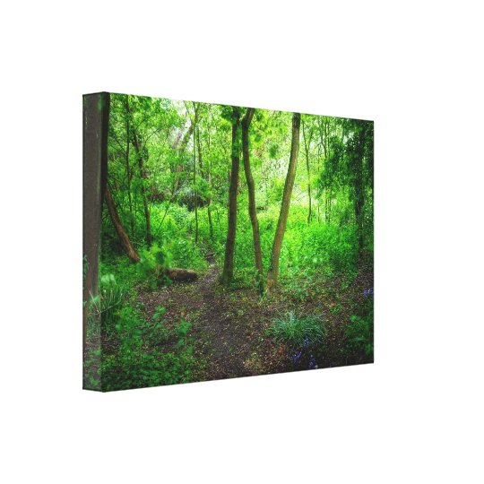 Dripping Shades of Green Canvas Print