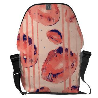 Dripping Sherbert Paint Lips Courier Bag