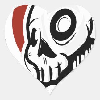 Dripping Skull Illustration by Daily Undead Heart Sticker