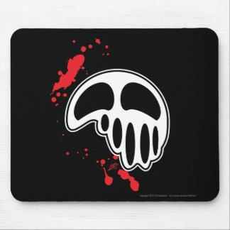 Dripping Skull Illustration with Blood Splatter Mousepad