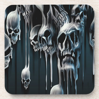 Dripping Skulls Coasters