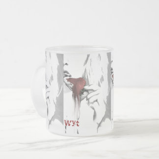 Dripping Strawberry Blonde Glass Frosted Glass Coffee Mug