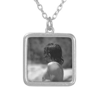 Dripping With Desire Square Pendant Necklace
