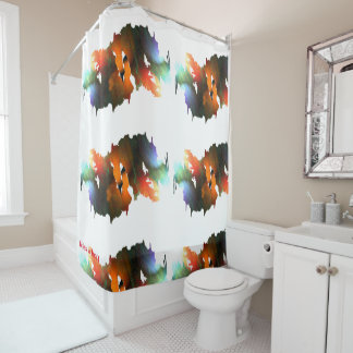 Drippping Paint and Brushes Shower Curtain