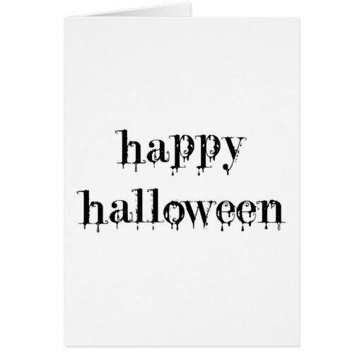 Drippy Blood Happy Halloween Card