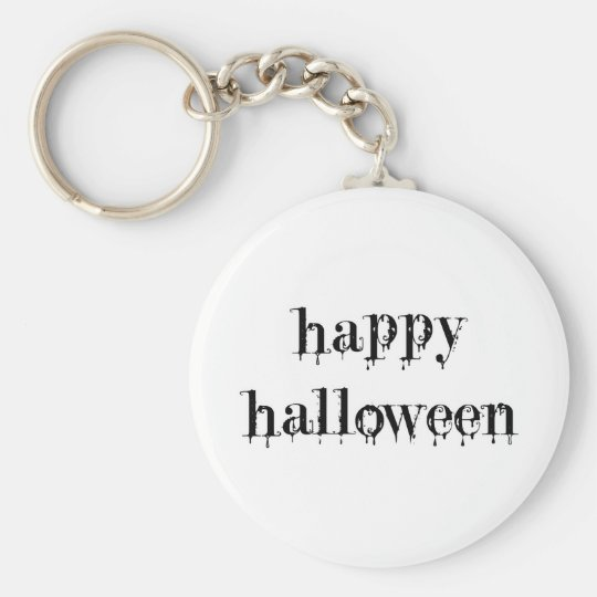 Drippy Blood Happy Halloween Keychain