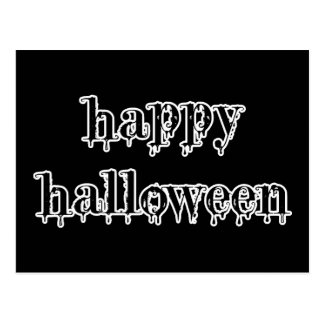 Drippy Blood Happy Halloween Postcard