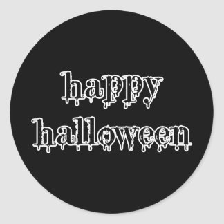 Drippy Blood Happy Halloween Round Stickers