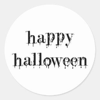 Drippy Blood Happy Halloween Sticker
