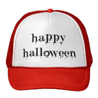 Drippy Blood Happy Halloween Trucker Hat