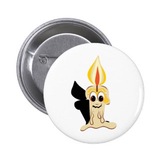 Drippy Candle Base Pinback Buttons