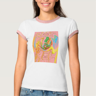 """Drippy Flux"" Women's Bella Ringer T-Shirt"