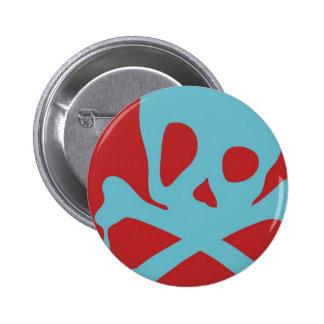 Drippy Skull Pinback Button