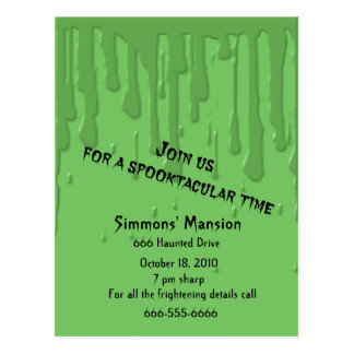 Drippy Slime Invitations Postcards