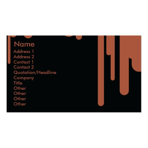 Drips - Business Double-Sided Standard Business Cards (Pack Of 100)