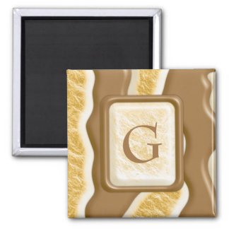 Drips - Chocolate Marshmallow 2 Inch Square Magnet