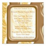 Drips - Chocolate Marshmallow 5.25x5.25 Square Paper Invitation Card