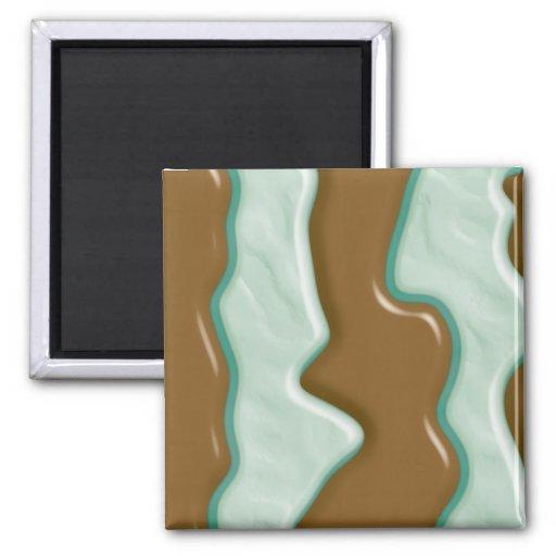 Drips - Chocolate Mint Fridge Magnet