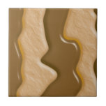 Drips - Chocolate Peanut Butter Ceramic Tile