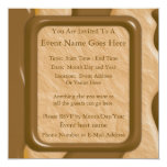 "Drips - Chocolate Peanut Butter 5.25"" Square Invitation Card"
