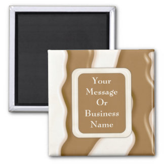 Drips - Milk Chocolate and White Chocolate 2 Inch Square Magnet