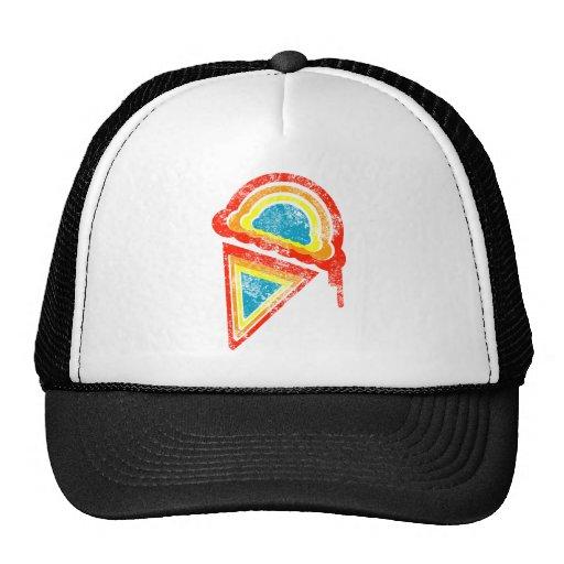 dripz del arco iris del helado gorra