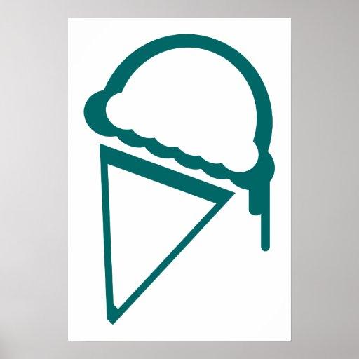 dripz retro del helado impresiones