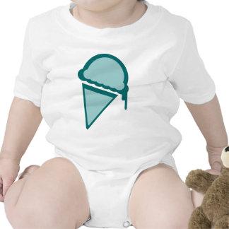 dripz retro del helado traje de bebé