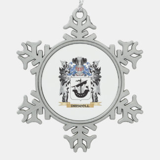 Driscoll Coat of Arms - Family Crest Snowflake Pewter Christmas Ornament