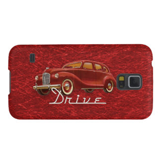 Drive a Retro Red Classic Midcentury Car Galaxy S5 Cover
