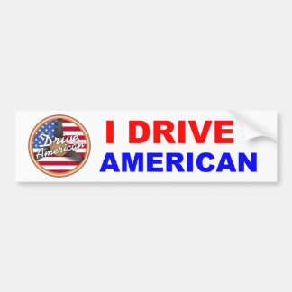 Drive American Bumper Sticker
