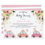 Drive By Baby Shower Invitation Pink Floral Shower (Part of a collection)