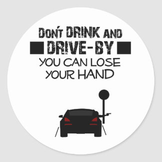Drive-By Classic Round Sticker