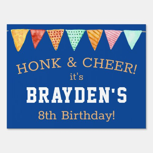 Drive_By Happy Birthday Parade Boy Personalized Sign