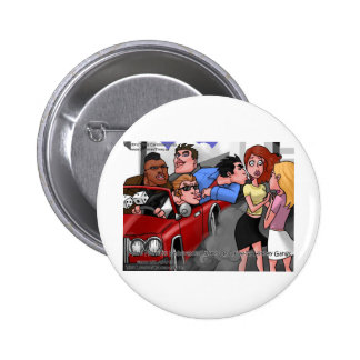 Drive By Hickey Gangs Funny Tees Mugs Gifts Pinback Button