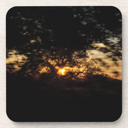 Drive By Sunset Drink Coaster