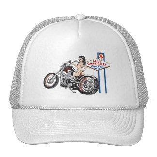 Drive Carefully Las Vegas Biker Pinup Hat