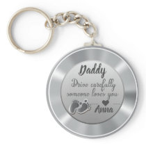 Drive Carefully Silver quote design Keychain