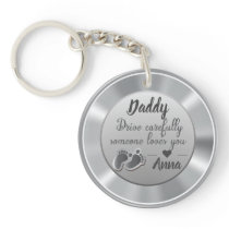 Drive Carefully Silver quote Keychain