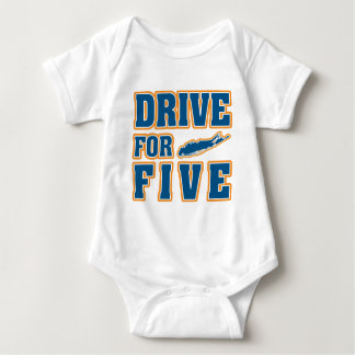 DRIVE FOR FIVE BABY BODYSUIT