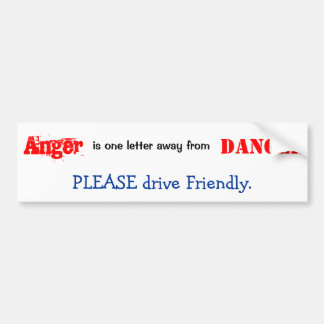 Drive Friendly Bumper Sticker