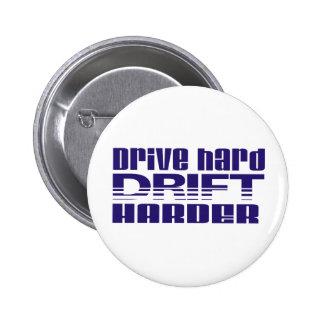 drive hard drift harder 2 inch round button