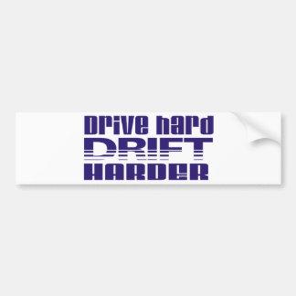 drive hard drift harder car bumper sticker