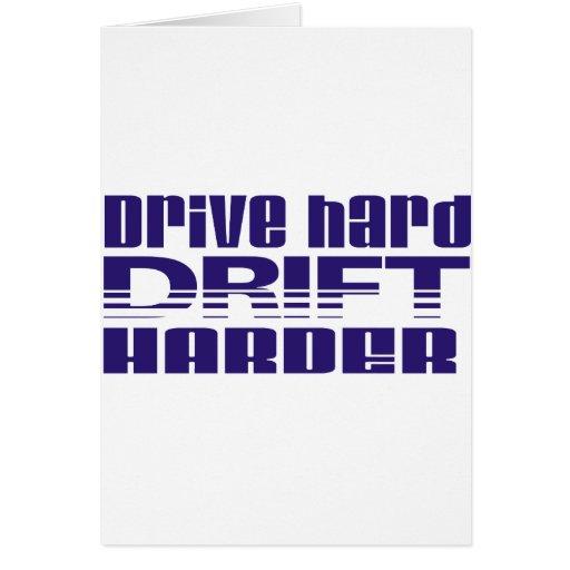 drive hard drift harder greeting card