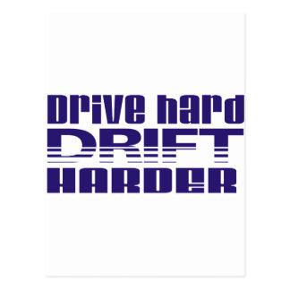 drive hard drift harder postcard