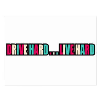 Drive Hard... Live Hard Postcard