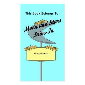 Drive-In Bookmark (2 tone) Business Card