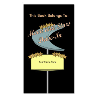 Drive-In Bookmark Business Card