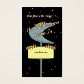 Drive-In Bookmark (star night) Business Card