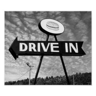 Drive In Burgers Print